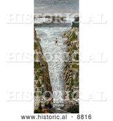 Historical Image of Jean Francois Gravelet-Blondin on the Tightrope at Niagara by Al