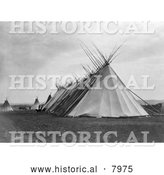 Historical Image of Joseph Dead Feast Lodge 1905 - Black and White by Al