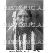 Historical Image of Kutenai Woman, a Native American Indian 1910 - Black and White by Al