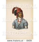 Historical Image of Ledagie, a Creek Native American Indian Chief by Al