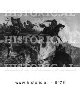 Historical Image of Major Samuel McColloch - American Revolutionary War - Black and White Version by Al