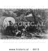 Historical Image of Massacre of Conococheague by Al