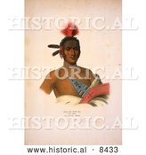 Historical Image of Moa-Na-Hon-Ga/Great Walker, Ioway Indian Chief by Al