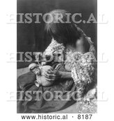 Historical Image of Mohave Potter 1907 - Black and White by Al