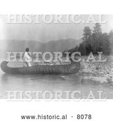 Historical Image of Native American Country of the Kutenai 1910 - Black and White by Al