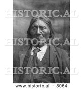 Historical Image of Native American Indian Chief Eggelston 1902 - Black and White by Al