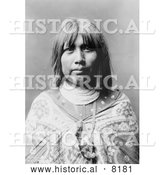 Historical Image of Native American Indian O Che Che 1903 - Black and White by Al