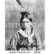 Historical Image of Native American Indian, Pagre 1902 - Black and White by Al