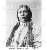 Historical Image of Native American Indian Ta Wits Nan 1899 - Black and White by Al