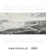 Historical Image of Niagara Falls by Al