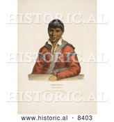 Historical Image of Paddy-carr, a Creek Indian Interpreter by Al
