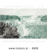 Historical Image of People Strolling in Prospect Point Park, Above Boats at Niagara Falls by Al