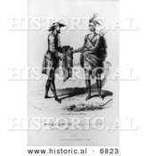 Historical Image of Poquanum Selling Nahant to Thomas Dexter 1630 by Al