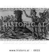 Historical Image of Rene De Laudonniere and the Florida Indians by Al