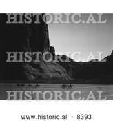 Historical Image of Riding Through Canyon De Chelly 1904 - Black and White Version Riding Through Canyon De Chelly 1904 - Black and White Version by Al