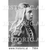Historical Image of Sawyer, a Nez Perce Native American Indian 1905 - Black and White by Al