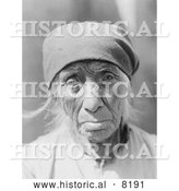 Historical Image of Serrano Woman of Tejon 1924 - Black and White by Al