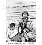 Historical Image of Sinkiuse-Columbia Indian Mother 1911 - Black and White by Al