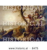 Historical Image of the Arrival of Hendrick Hudson in the Bay of New York 1609 by Al