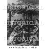 Historical Image of the Indians Delivering up the English Captives to Colonel Bouquet by Al