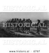 Historical Image of the March of Miles Standish by Al