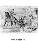 Historical Image of the Minute-Men of the Revolution - Black and White by Al