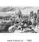 Historical Image of the New Indian War 1878 - Black and White by Al