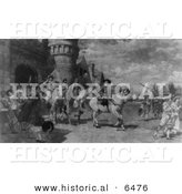 Historical Image of the Surrender of Nieuw Amsterdam - Black and White Version by Al