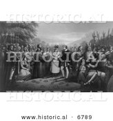 Historical Image of the Wedding of Pocahontas with John Rolf by Al