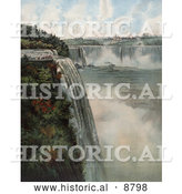 Historical Image of Tourists at the Top of Niagara Falls, Viewing the Maid of the Mist by Al