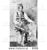 Historical Image of Ute Bridgroom, a Native American Indian 1906 - Black and White by Al