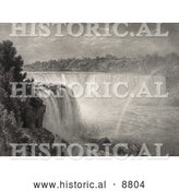 Historical Image Sketch a Rainbow at Niagara Falls by Al
