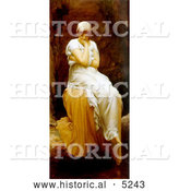 Historical Painting of a Lone Woman, Titled Solitude by Frederic Lord Leighton by Al