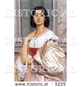 Historical Painting of a Roman Woman, La Nanna by Frederic Lord Leighton by Al
