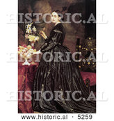 Historical Painting of a Woman and Flowers, Mrs James Guthrie by Frederic Lord Leighton by Al