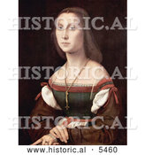Historical Painting of a Young Woman Named La Muta, by Raphael by Al