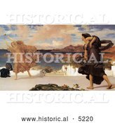 Historical Painting of Greek Girls Playing at Ball by Frederic Lord Leighton by Al