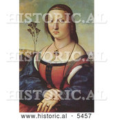 Historical Painting of Maddalena Doni by Raphael by Al