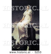 Historical Painting of the Spirit of the Summit by Frederic Lord Leighton by Al