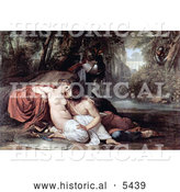 Historical Painting of Two Lovers, Rinaldo and Armida, by Francesco Hayez by Al
