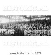 Historical Photo of 1924 World Series Baseball Players - Black and White Version by Al