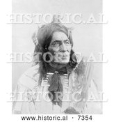 December 13th, 2013: Historical Photo of 6 Pool Long Otter, Crow Indian Man 1905 - Black and White by Al