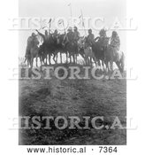 December 13th, 2013: Historical Photo of 8 Crow Native Americans on Horseback 1908 - Black and White by Al