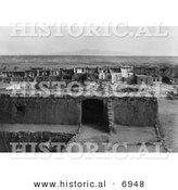 Historical Photo of Acoma Architecture - Black and White Version by Al