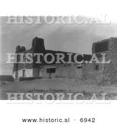 Historical Photo of Acoma Church - Black and White Version by Al