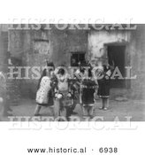 Historical Photo of Acoma Indian Fiesta - Black and White Version by Al