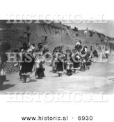 Historical Photo of Acoma Indian Fiesta of San Estevan - Black and White Version by Al