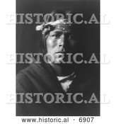 December 13th, 2013: Historical Photo of Acoma Indian Man 1904 - Black and White by Al