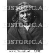 December 13th, 2013: Historical Photo of Acoma Indian Man Wearing Headband 1904 - Black and White by Al
