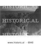 December 13th, 2013: Historical Photo of Acoma Indian Trail 1905 - Black and White by Al